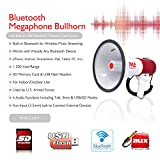 Pyle Bluetooth Megaphone - PA Megaphone Bullhorn Speaker with...