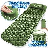 Sleeping Pad Ultralight Camping Mattress 6.56Ft Lightweight Air Sleeping Mat Portable Comfortable Hand-Press