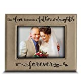 Bella Busta- The Love Between a Father and Daughter is Forever from Daughter-Dad Gifts- Engraved Leather Picture Frame (5''x 7'' Horizontal (Father & Daughter))