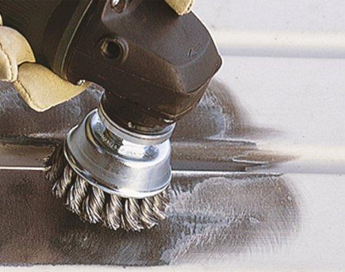 Wolfcraft 2150000 Brosse m/étallique soucoupe pour Meuleuse M14 Diam/ètre 90 mm