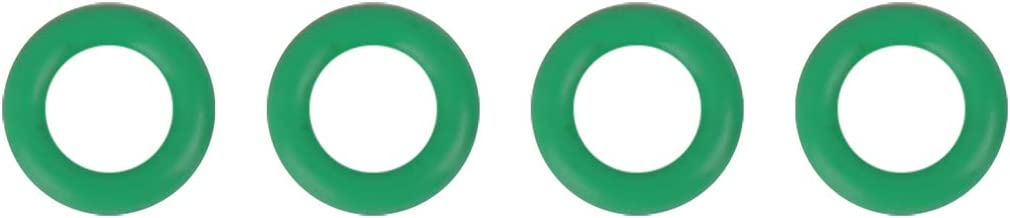 X AUTOHAUX 4pcs Diesel Fuel Injector Washer Green Rubber O-Ring Seal Gasket Replacement for Ford Transit