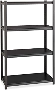 Hirsh Industries 3 200 Lb Capacity Iron Horse Shelving 4 Compartment S 60 Height X 36 Width X 18 Depth Grey 20995 Office Products