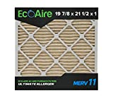 Eco-Aire 19 7/8x21 1/2x1 MERV 11, Pleated Air Filter, 19 7/8x21 1/2x1, Box of 6, Made in the USA