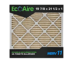 Eco Aire 19 7 8x21 1 2x1 Merv 11 Pleated Air Filter 19 7