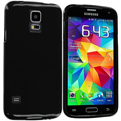 Accessory Planet(TM) Black TPU Rubber Skin Case Cover Accessory for Samsung Galaxy S5
