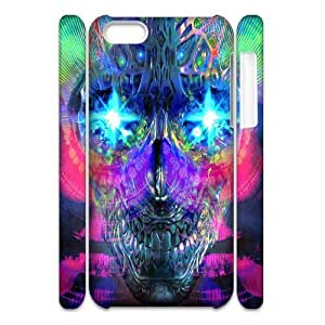 LJF phone case C-Y-F-CASE DIY Color Skull Pattern Phone Case For ipod touch 5