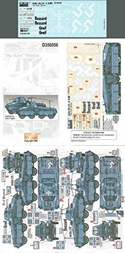 Echelon Fine Decal 1:35 WWII German Sd.Kfz 231 232 8 Rad Das Reich Div #D356058 (Div Decal)
