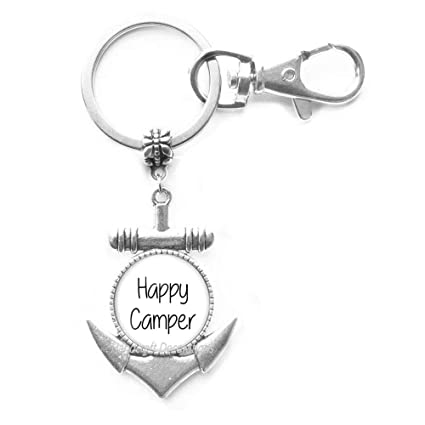 Llavero con ancla de Happy Camper: Amazon.es: Oficina y ...