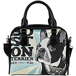 Angelinana Custom Women's Handbag Boston Terrier Fashion Shoulder Bag