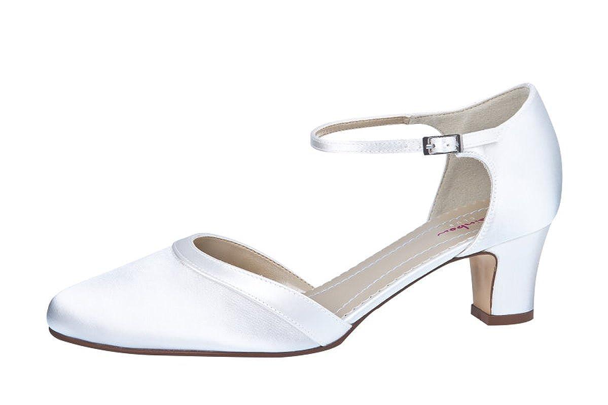 1c626122b072d Rainbow Club Wedding Shoes Anika Strappy Pumps Ivory/Cream Satin ...