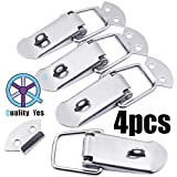 Quality Yes QY 4Set Strong Cabinet Spring Loaded Toggle Clamps Box Clasp Buckle Trunk Catches Latch Hasp for DIY Chest Project