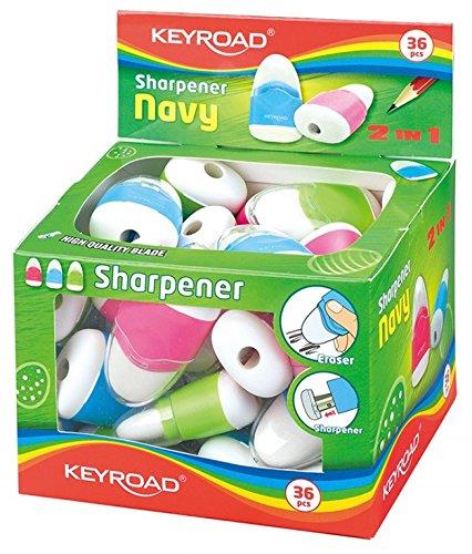 Keyroad kr971077–Pack of 36Erasers with Sharpener by Keyroad (Image #3)