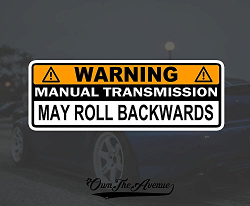 Warning Manual Transmission Bumper Sticker Decal Stick Shift Car JDM Funny 6