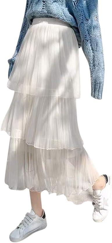 beautyjourney Falda de Enagua Vintage Rockabilly para Mujer Falda ...