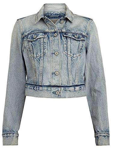 AllSaints Hay Cropped Denim Jacket Medium from AllSaints
