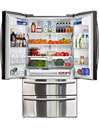 SMETA Counter Depth French Door Refrigerator Bottom Freezer with 20.66 cu ft Capacity,Stainless Steel