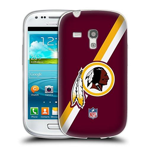 Official NFL Stripes Washington Redskins Logo Soft Gel Case for Samsung Galaxy S3 III