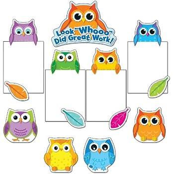 Carson Dellosa Colorful Owls Good Work Bulletin Board Set (110228)