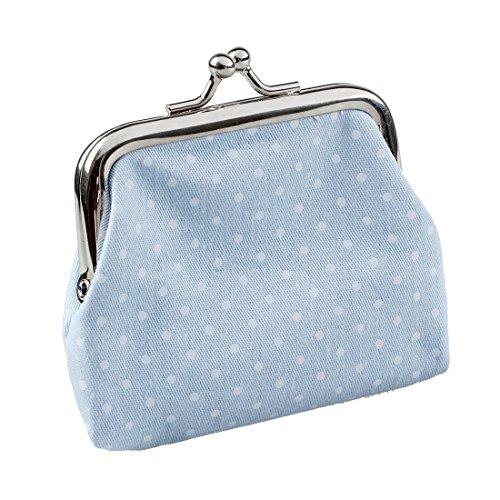 Portefeuille Pochette main a les cle Sac SODIAL pieces populaire Noir mignon femmes ciel mini pour Bleu Hw5q4c