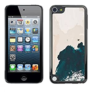 All Phone Most Case / Hard PC Metal piece Shell Slim Cover Protective Case Carcasa Funda Caso de protección para Apple iPod Touch 5 Wave Pink Sky Watercolor Art
