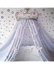 Corona de hierro Europea princesa cama cortina Marco de cortina mosquitera para cama decorada soporte con marco único gamuza de doble pantalla