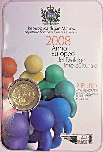 2008 SM 2008 San Marino 2 Euro Coin European Year of Inte 2 Euro Good