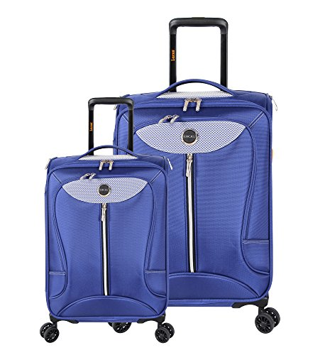 Lucas Luggage Adrenaline 2 Piece Softside Expandable Spinner Suitcase Set (Cobalt)