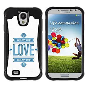 "Pulsar iFace Series Tpu silicona Carcasa Funda Case para Samsung Galaxy S4 IV I9500 , Cita Blanco Azul Logo"""