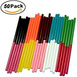Ewparts 50 Pack 10 Colors Hot Melt Adhesive Gule Stick 7 x 100mm Multi Color (Colored)