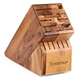 best seller today 17 Slot Knife Block Block Finish: Acacia