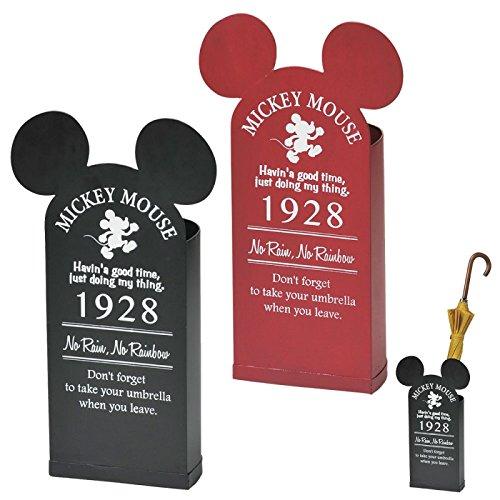 傘立て ディズニー ミッキー 玄関 ヴィンテージミッキー 全2色 SD-6142(ブラック) B06X18KDR5  ブラック