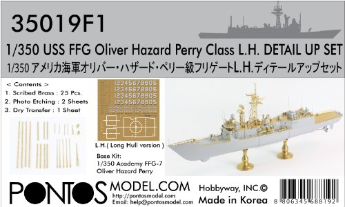 PONF35019 1:350 Pontos Model Detail Up Set - USS Oliver Hazard Perry Class FFG (for the Academy kit) MODEL KIT ACCESSORY