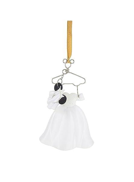 Amazon.com: Disney Parks Minnie Mouse Bride Wedding Costume Ornament ...