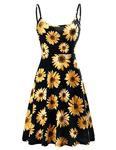 Beach Bum Dress (Women Summer Beach Casual Strapless Flared Floral Midi Dress (XL, 0502-Flower01))