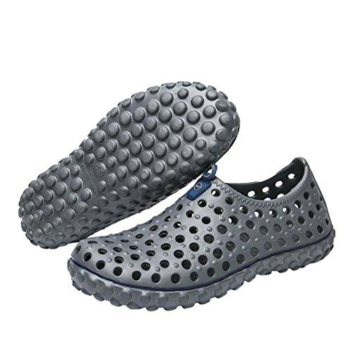 Talons De Chaussons à De Aquatiques En ExtéRieur Jardin Sport De Plastique ÉVider Gris Chaussures Plage ÉTé Sandales Respirant Plats Yogogo Homme 1w4OZW07q