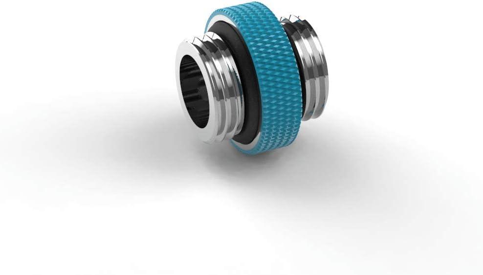 PrimoChill Dual Male G1//4 Extension Coupler SX Sky Blue Mini