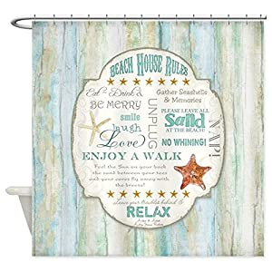 51jyKDNYVkL._SS300_ 200+ Beach Shower Curtains and Nautical Shower Curtains