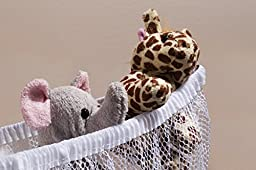 Jumbo Toy Hammock -2PACK- Organize stuffed animals or children\'s toys with this mesh hammock. Looks great with any décor while neatly organizing kid's toys and stuffed animals. Expands to 5.5 feet.