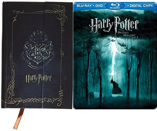 Harry Potter and the Deathly Hollows DVD + Blu Ray Steelbook with Vintage Diary Planner Journal Book Agenda Notebook Special Edition