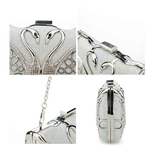 swan De Mano Para Bgmix Silver S Sintético Mujer Cartera BgZPqwU