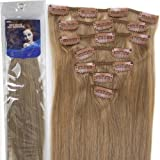 20''7pcs Fashional Clips in Remy Human Hair Extensions 24 Colors for Women Beauty Hot Sale (#16-ash blonde) by lilu
