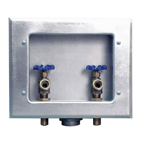 washing machine outlet box with drain