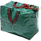 Garland - Borsa per decorazioni natalizie, in polietilene, colore: verde