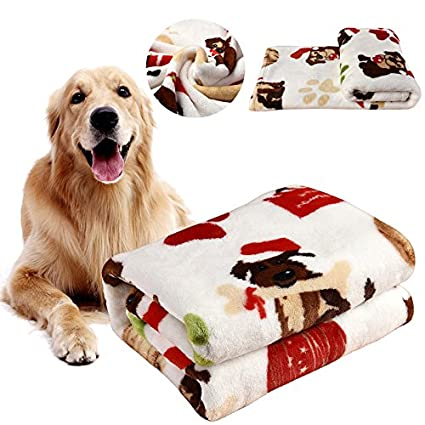 kiwitatá Pet Dog Blanket Soft Warm Flannel Dog Cat Sleep Blankets Pet Bed Mat Cover for Couch, Car, Trunk, Cage, Kennel and Dog House K-Y-B006-047-K