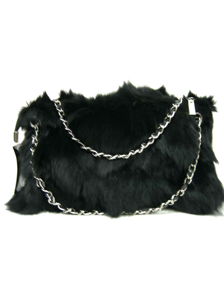 Fox Fur Handbag and hand warmer with Short Chains