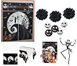 Nightmare Before Christmas Party Supplies Halloween Decorations Pack Scene Setter 50'' Stick Prop Lanterns Table Cover Photo Cutouts