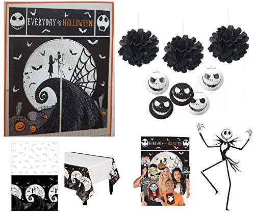 Nightmare Before Christmas Theme (Nightmare Before Christmas Party Supplies Halloween Decorations Pack Scene Setter 50