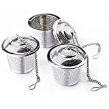 Tea Infuser, BestElec 3-Pack Tea Filter-Stainless Steel-Tea Strainer for Loose Leaf Tea, Teapot & Tea Ball