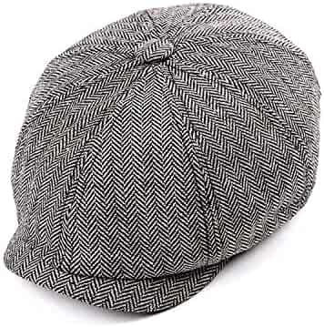 37fe9d6046fe9 Tweed Gatsby Newsboy Cap Spring Autumn Hat for Men Golf Driving Flat Cap  Berets Men Peaky