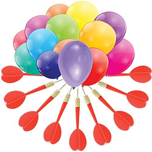 Dart Balloon Game by GAMIE - Jumbo Set includes 288 dart Balloons (144 5-inch balloons & 144 6-inch balloons) and 36 Plastic Darts with Copper Tips - Exciting Outdoor - Tower Place Stores At Water